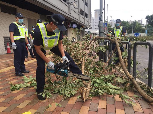 O super-tufão que pôs Macau à prova